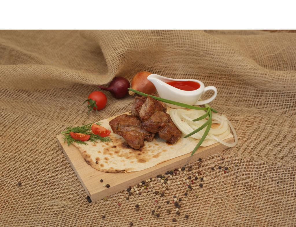 Шашлык: Свиная шея в Кафе «Парус»