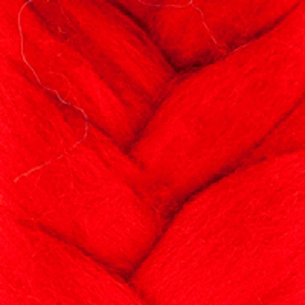 Фелтинг: Шерсть для валяния п/т КАМТ 50г. цв.046 красный в Шедевр, художественный салон