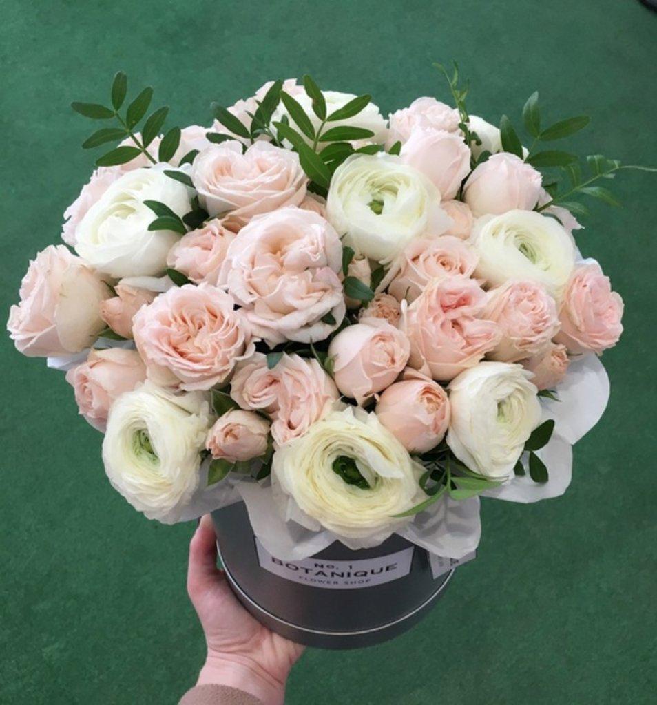"Premier mini: ""Premier mini"" Ранункулусы+Роза ""Бомбастик"" в Botanique №1,ЭКСКЛЮЗИВНЫЕ БУКЕТЫ"
