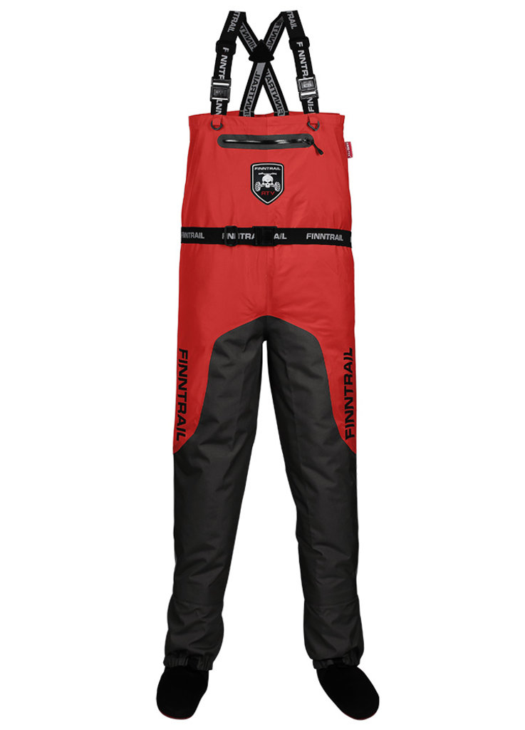 Экипировка и аксессуары: Вейдерсы Finntrail Enduro Red Gray/Red M, 1525 Gray/Red M в Базис72