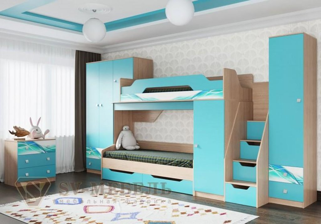 Мебель для детской Сити 1: Шкаф двухстворчатый универсальный Сити 1 в Диван Плюс