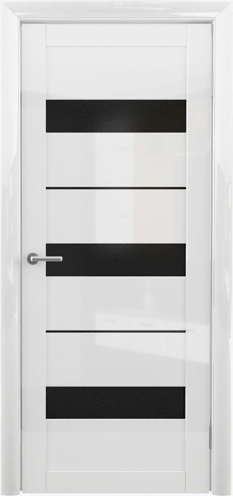 Двери Альберо: Прага глянец Мокко Мателюкс Белый в Салон дверей Доминго Ноябрьск