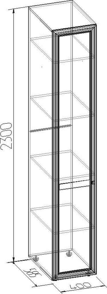 Шкафы для одежды и белья: Шкаф для белья PAOLA 55 (Стандарт лев.) в Стильная мебель
