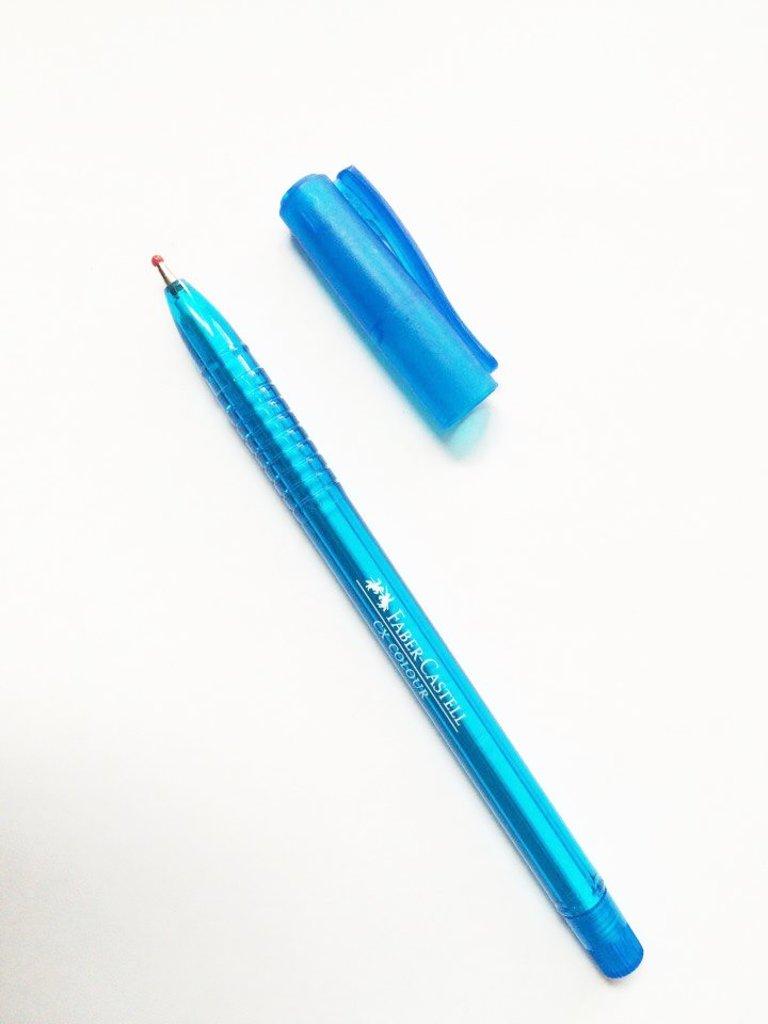 Ручки: Роллер СХ5 , голубой , 1.0 мм Faber-Castell в Шедевр, художественный салон