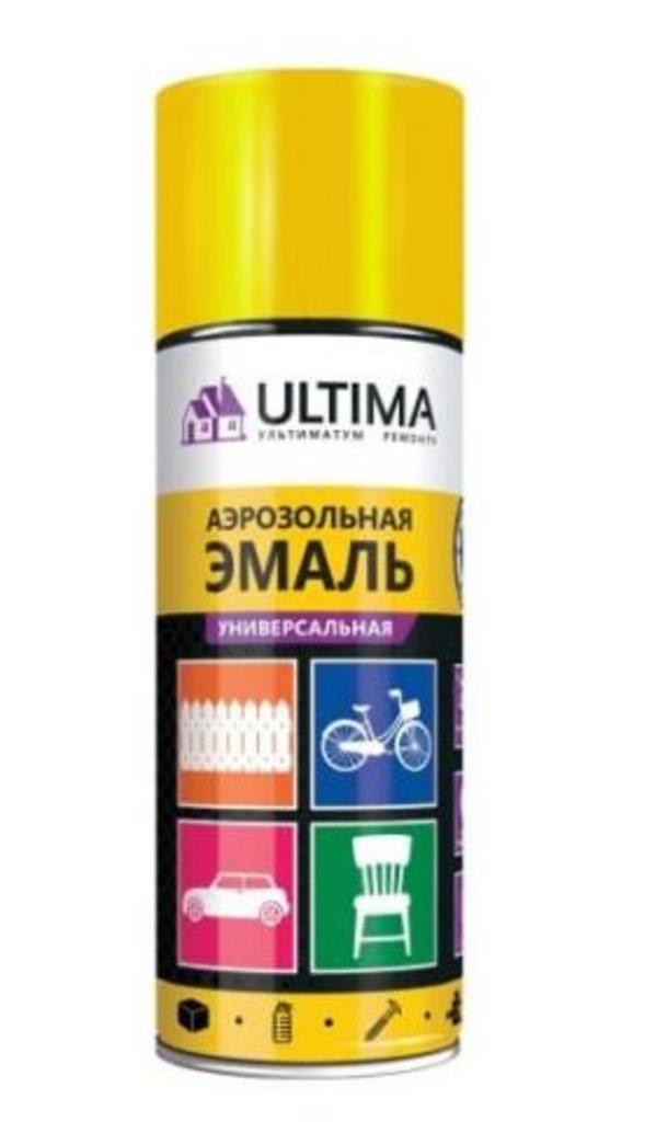 Универсальные: Краска-спрей Ultima,желтая флуоресцентная, 520мл в Шедевр, художественный салон