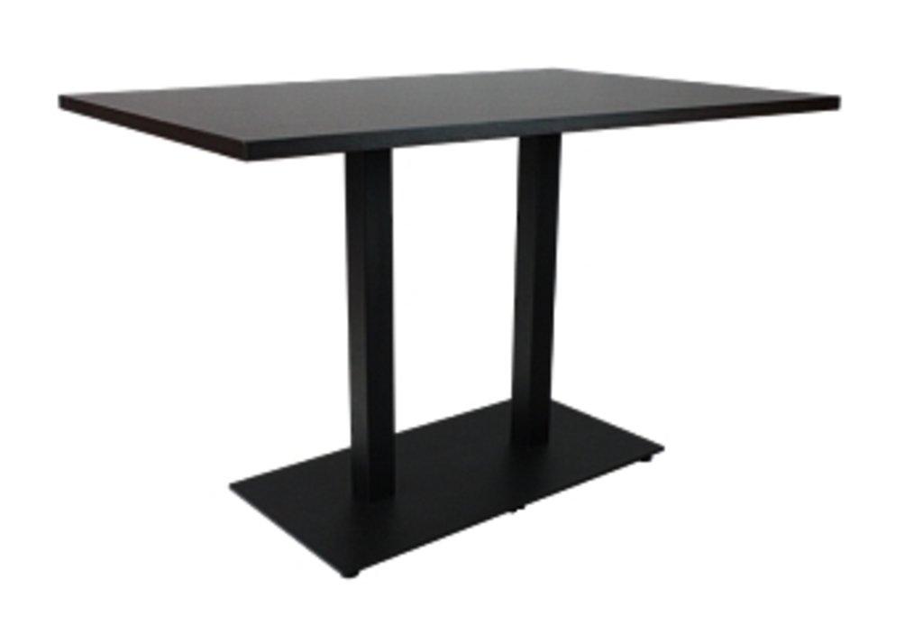 Столы для ресторана, бара, кафе, столовых.: Стол прямоугольник 120х80, подстолья 01 С-2.100 чёрная в АРТ-МЕБЕЛЬ НН