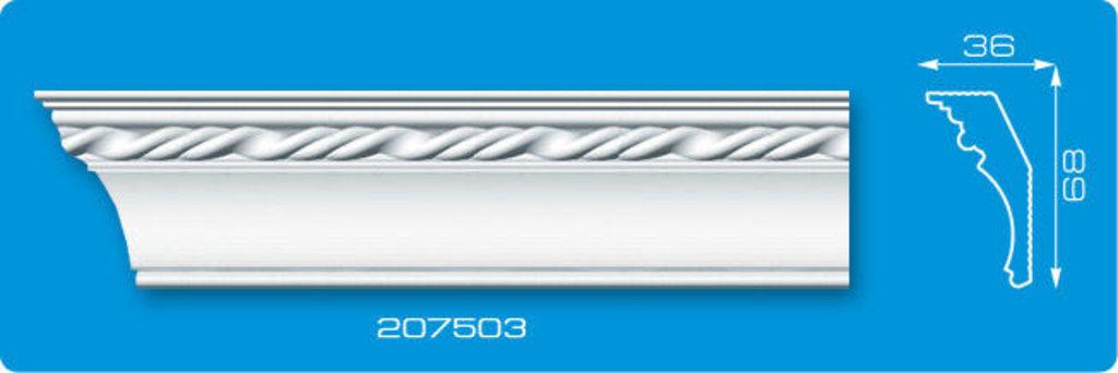 Плинтуса потолочные: Плинтус потолочный ФОРМАТ 207503 инжекционный длина 2м в Мир Потолков