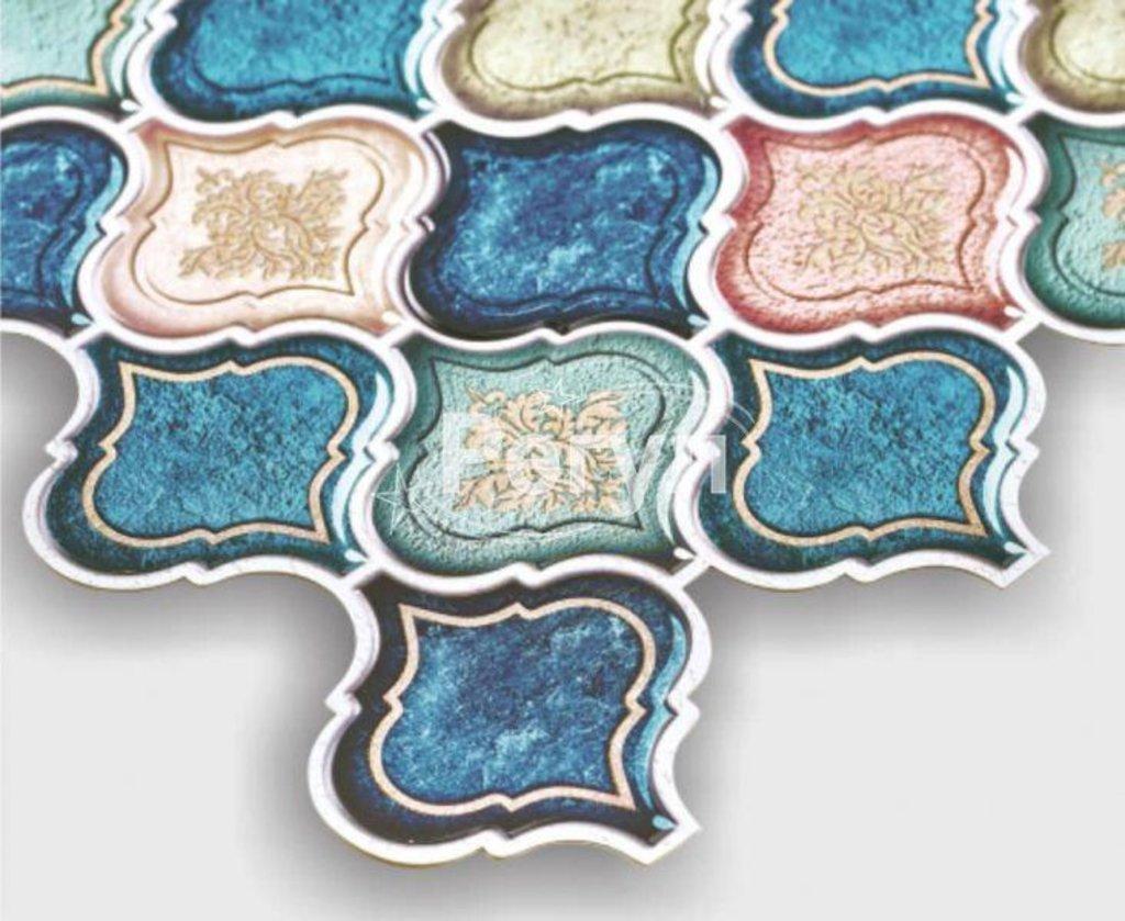 Панели ПВХ: Панель ПВХ Восточный орнамент синий в Мир Потолков
