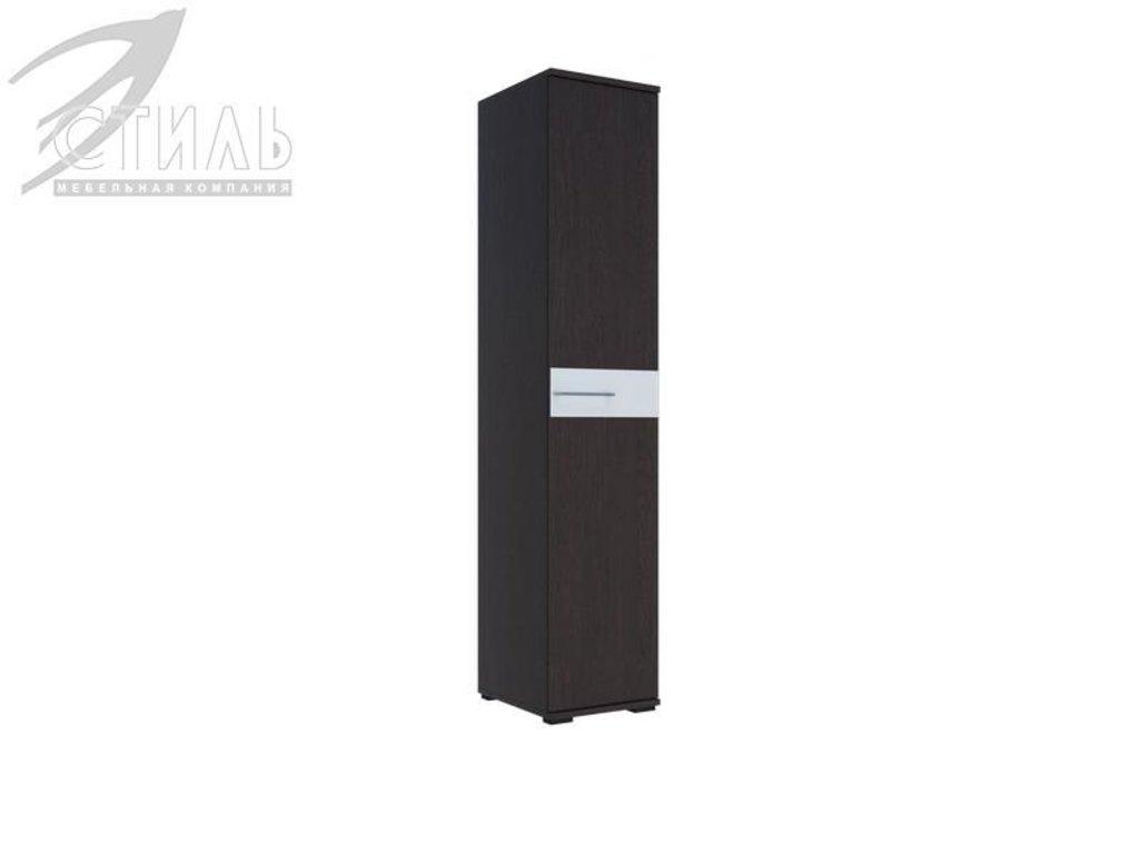 Мебель для спальни Луиза (венге / белый глянец): Пенал Луиза (венге / белый глянец) в Диван Плюс