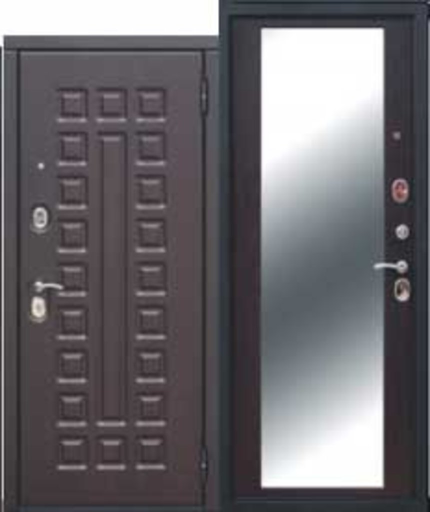 Двери завода Феррони: Монарх Зеркало МДФ/МДФ Венге/Венге Зеркало в Модуль Плюс