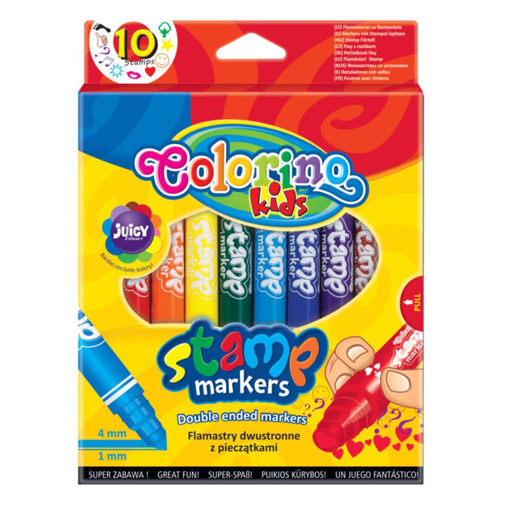 """Фломастеры: Фломастеры двойные для штампов""""Stamp"""" Colorino 10шт/20цв в Шедевр, художественный салон"""