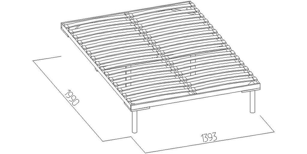 Кровати: Кровать Марсель 33 (1400, орт. осн. дерево) в Стильная мебель