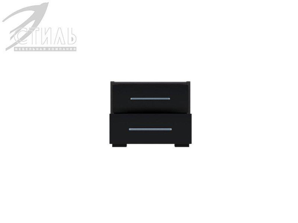 Мебель для спальни Луиза (венге / черный глянец): Тумба прикроватная Луиза (венге / черный глянец) в Диван Плюс
