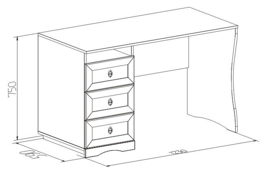 Письменные столы: Стол письменный ADELE 84 в Стильная мебель