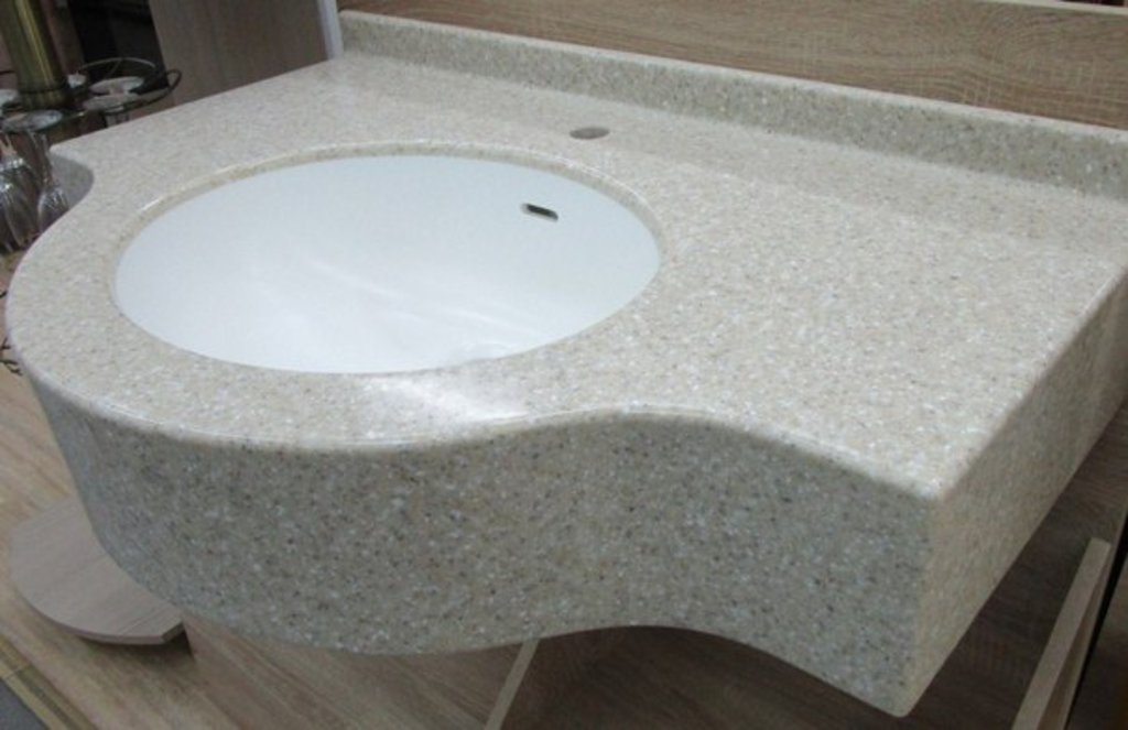 Мебель для ванных комнат, общее: Мойка в ванную комнату из акрилового камня в Арт-Мебель