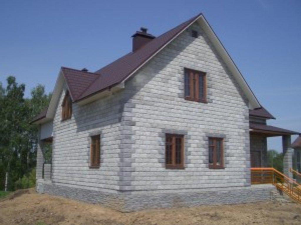 Строительство: Блочный дом (черновой вариант) в А-Строй