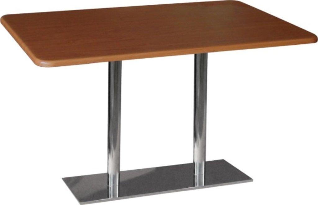 Столы для ресторана, бара, кафе, столовых.: Стол прямоугольник 120х60, подстолья 1075 ЕМ нержавейка (матовое) в АРТ-МЕБЕЛЬ НН