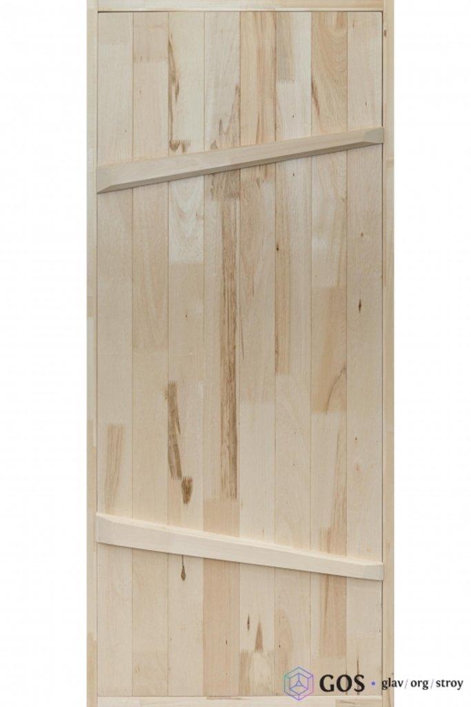 """Двери для саун и бань: Дверь """"На клин"""" 800*1900 мм банная с петлями (массив липы) в Погонаж"""