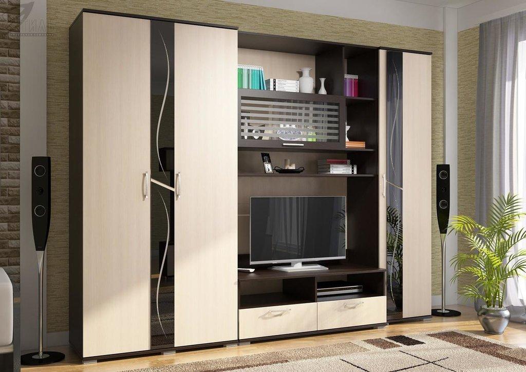 Мебель для гостиной Поло - 1: Шкаф 2-х створчатый ШК-05 для гостиной Поло - 1 в Диван Плюс