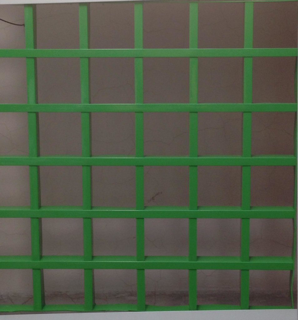 Потолки грильято: Потолок Грильято 50x50 h=40 зеленый (Cesal) в Мир Потолков