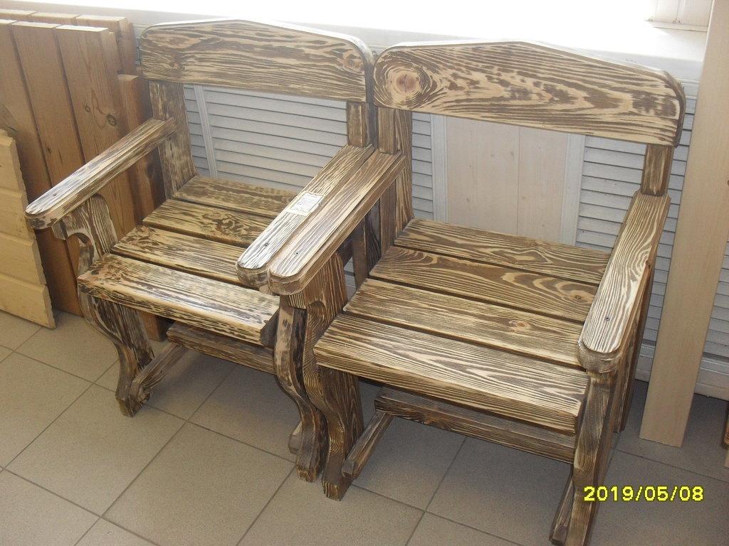 Мебель для саун и бань: Кресло состаренное (массив сосны) в Погонаж