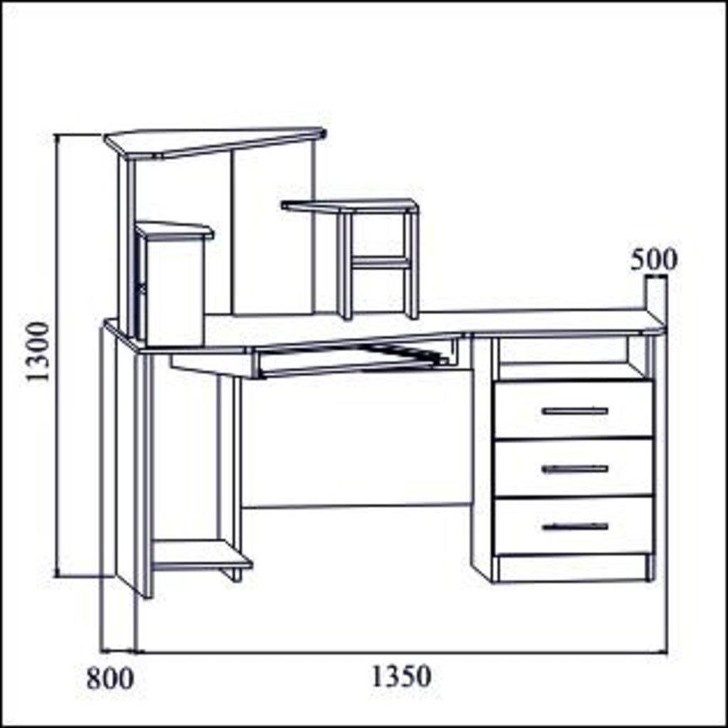 Компьютерные столы: Стол компьютерный №3 в Диван Плюс