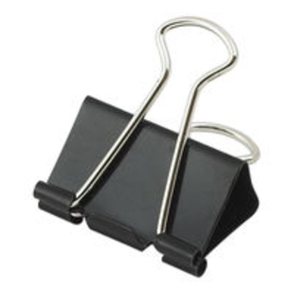 Кнопки, скрепки, зажимы: Зажим 25мм черный 1шт в Шедевр, художественный салон