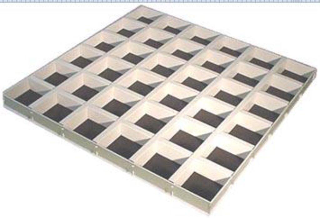 Потолки Армстронг (минеральное волокно): Потолочная плита Cellio (Целио) C9  200x200x37  Black  (assembled) в Мир Потолков