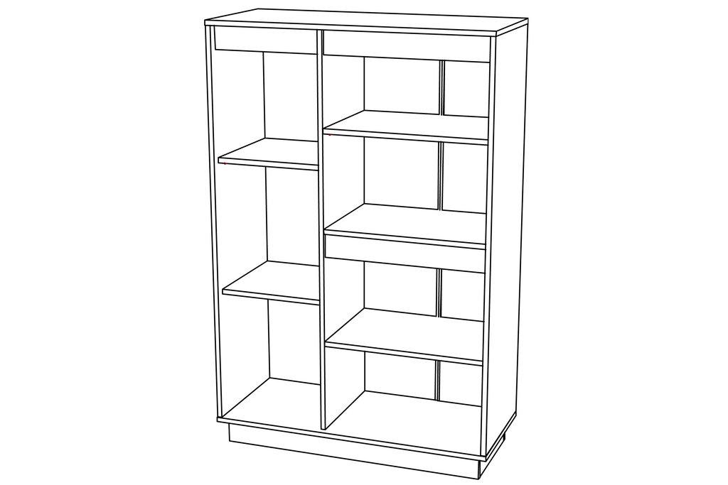 Шкафы, общие: Шкаф комбинированный VIRGINIA НМ 011.85 в Стильная мебель