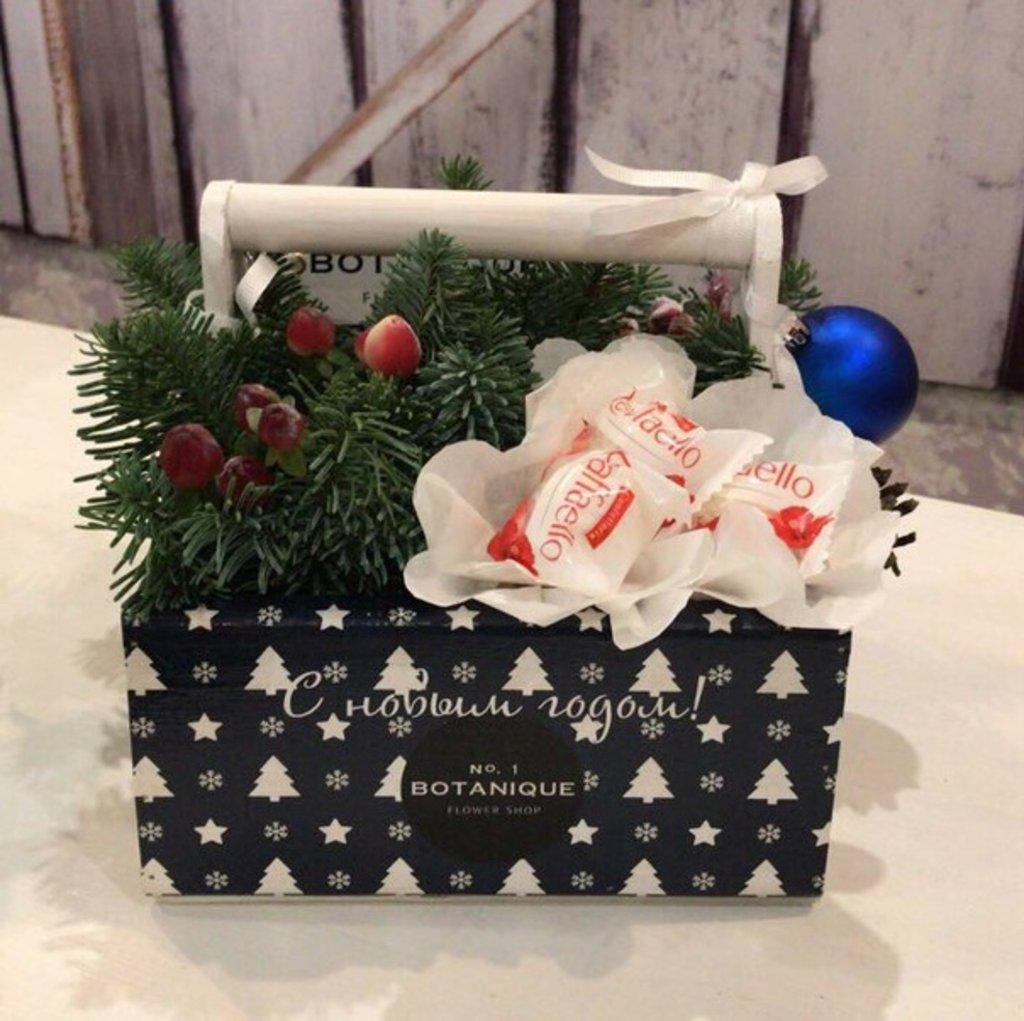 """""""""""Новогодний Подарок"""" с конфетами в Botanique №1,ЭКСКЛЮЗИВНЫЕ БУКЕТЫ"""