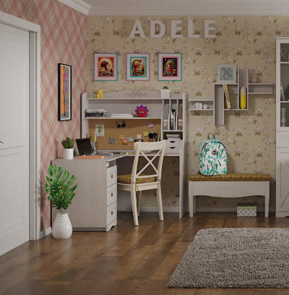 Детские и подростковые столы: Стол приставной угловой ADELE 86 в Стильная мебель