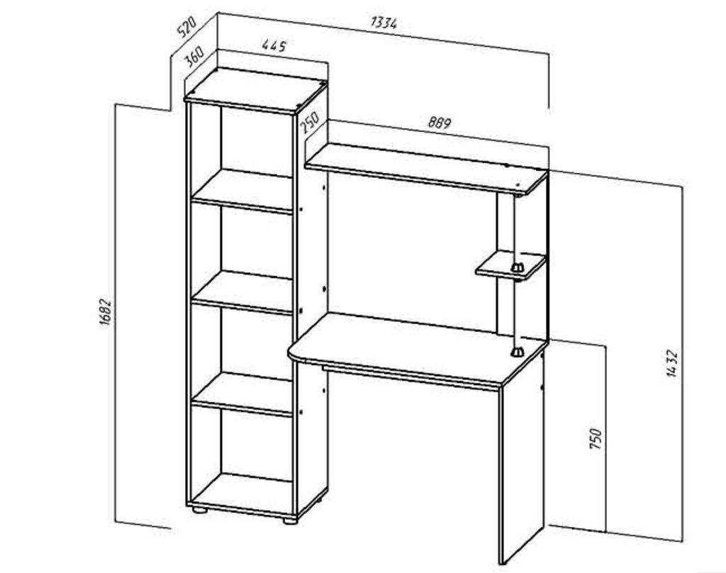 Компьютерные столы: Стол компьютерный Юниор-2 (Линаура) в Стильная мебель