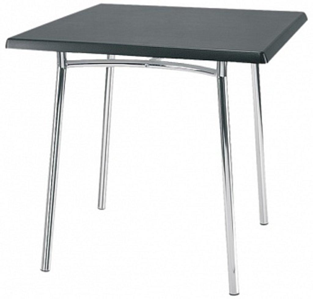 Столы для ресторана, бара, кафе, столовых.: Стол квадрат 800х800, подстолья 1276 ЕМ хром в АРТ-МЕБЕЛЬ НН