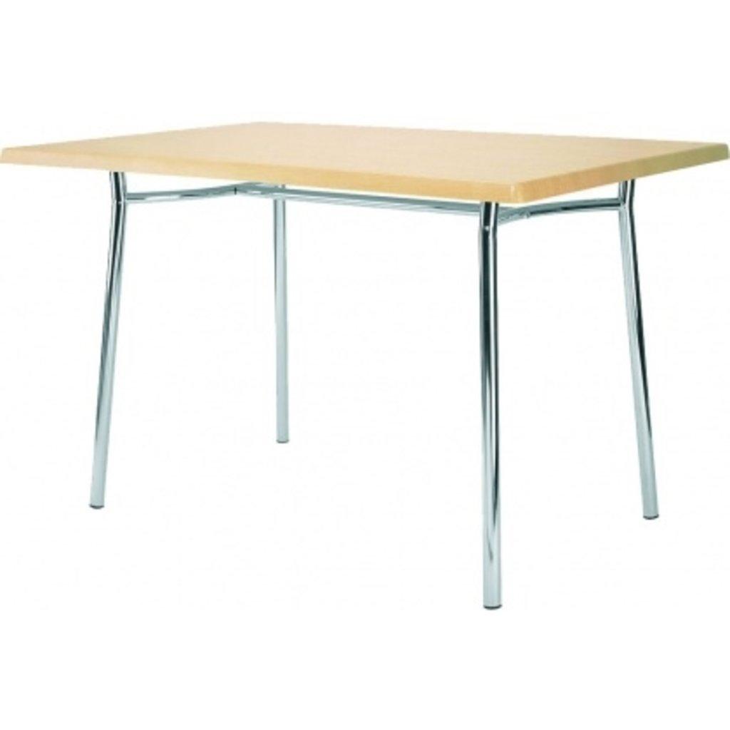 Столы для ресторана, бара, кафе, столовых.: Стол прямоугольник 120х80, подстолья 1277 ЕМ хром в АРТ-МЕБЕЛЬ НН