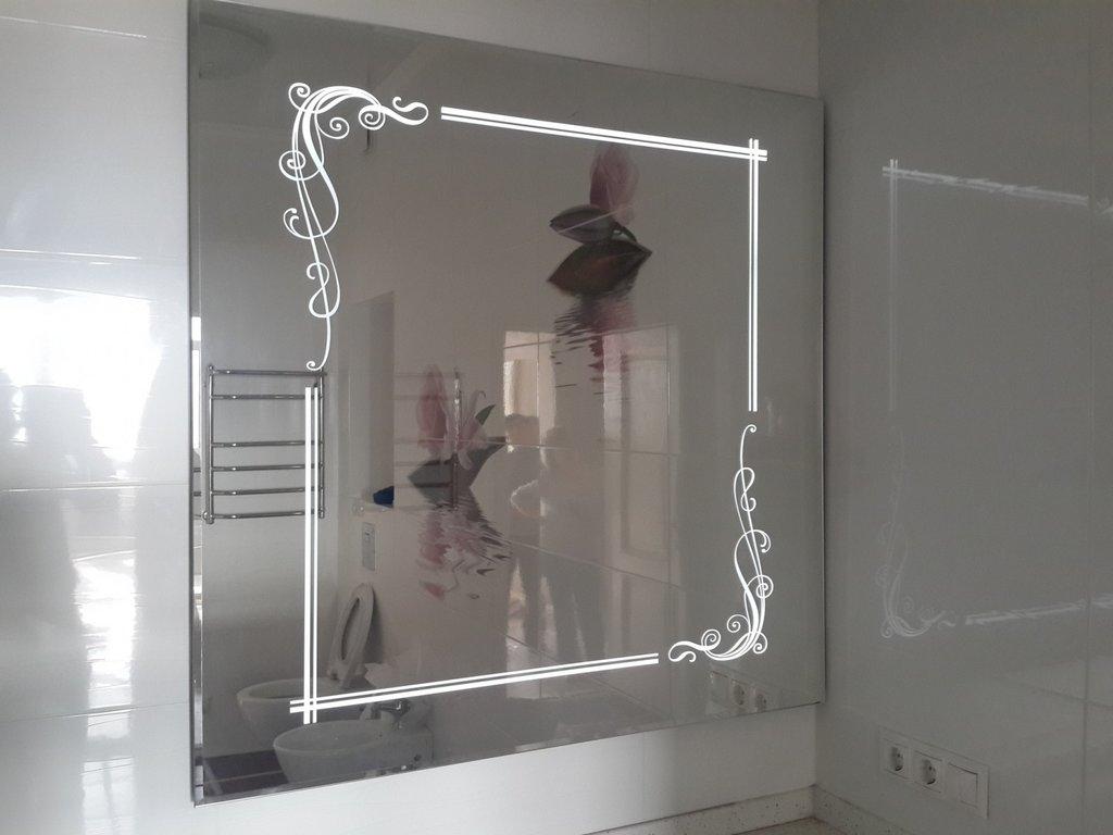 Услуги гравировки: Гравировка на зеркале в Граверная и художественная мастерская, ИП Падалка А.Ю