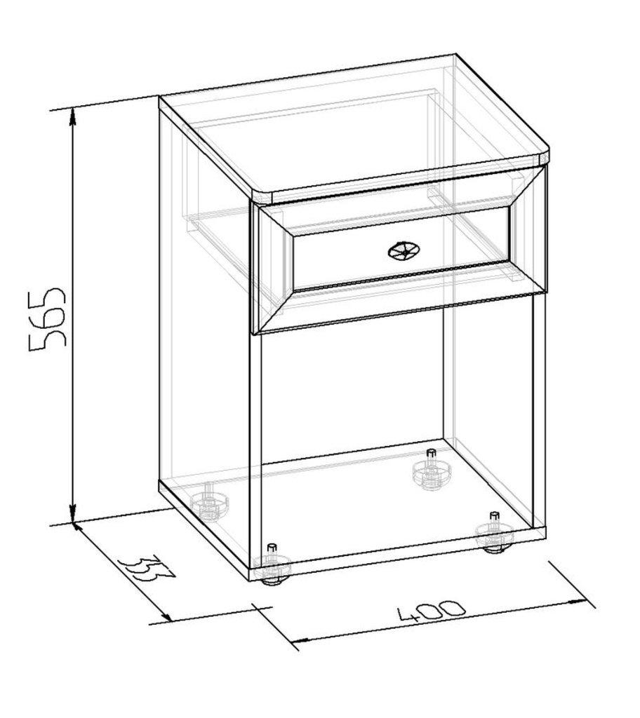 Прикроватные тумбочки: Тумба прикроватная Sherlock 64 в Стильная мебель