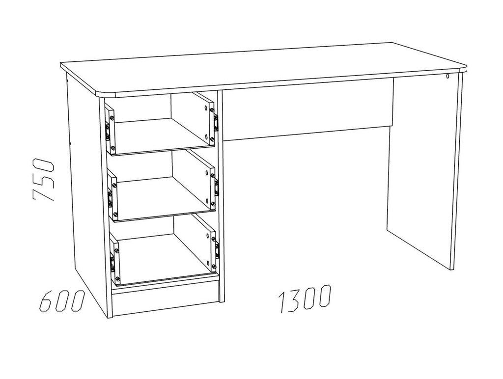 Письменные столы: Стол письменный НМ 011.47-01 Рико в Стильная мебель