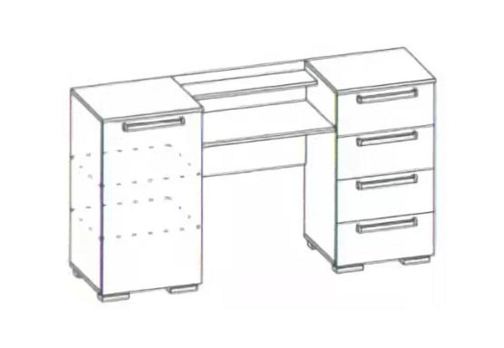 Мебель для спальни Лагуна-2: Стол-туалетный (без зеркала) Лагуна-2 в Диван Плюс