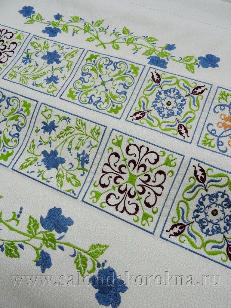 Вышивка: Вышивка на ткани в Декор окна, салон
