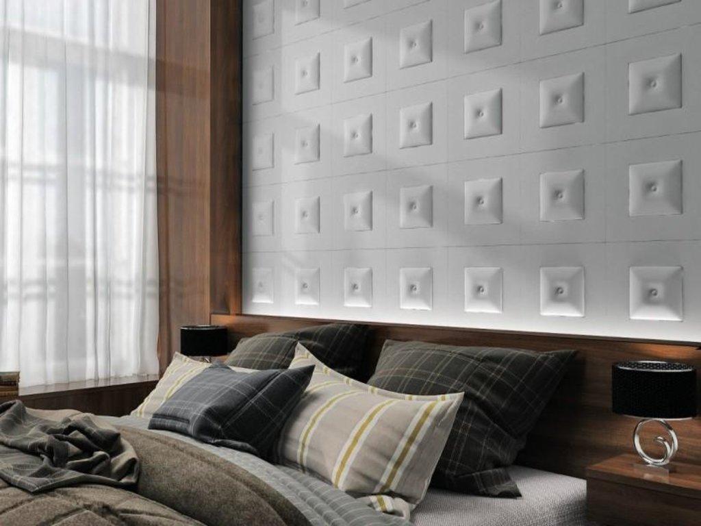 Кожаные стеновые панели: Кожаная 3D панель Mishel в Мир Потолков