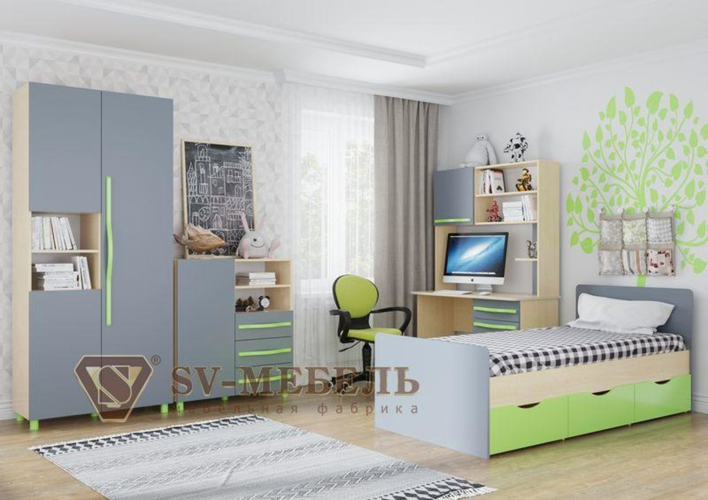 Мебель для детской Алекс-1: Ящик для кровати Алекс-1 в Диван Плюс