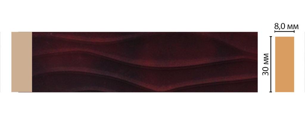 Молдинги: Цветной молдинг DECOMASTER D044-62 (30*8*2400) в Мир Потолков