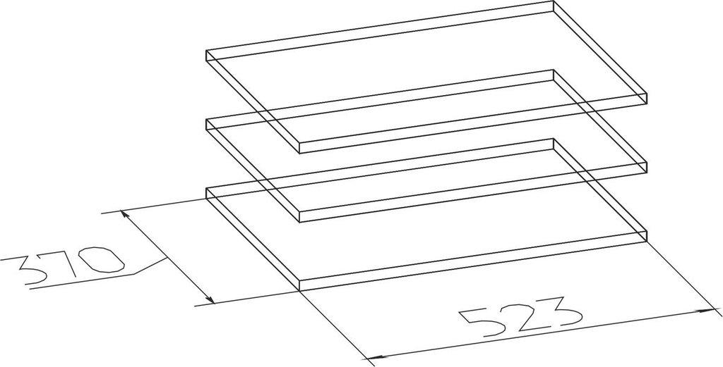 Мебельные направляющие и комплектующие: Полки Норвуд 72 в Стильная мебель