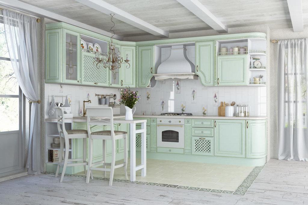 Кухни: Кухня Париж №4 (патина зеленая) в Стильная мебель
