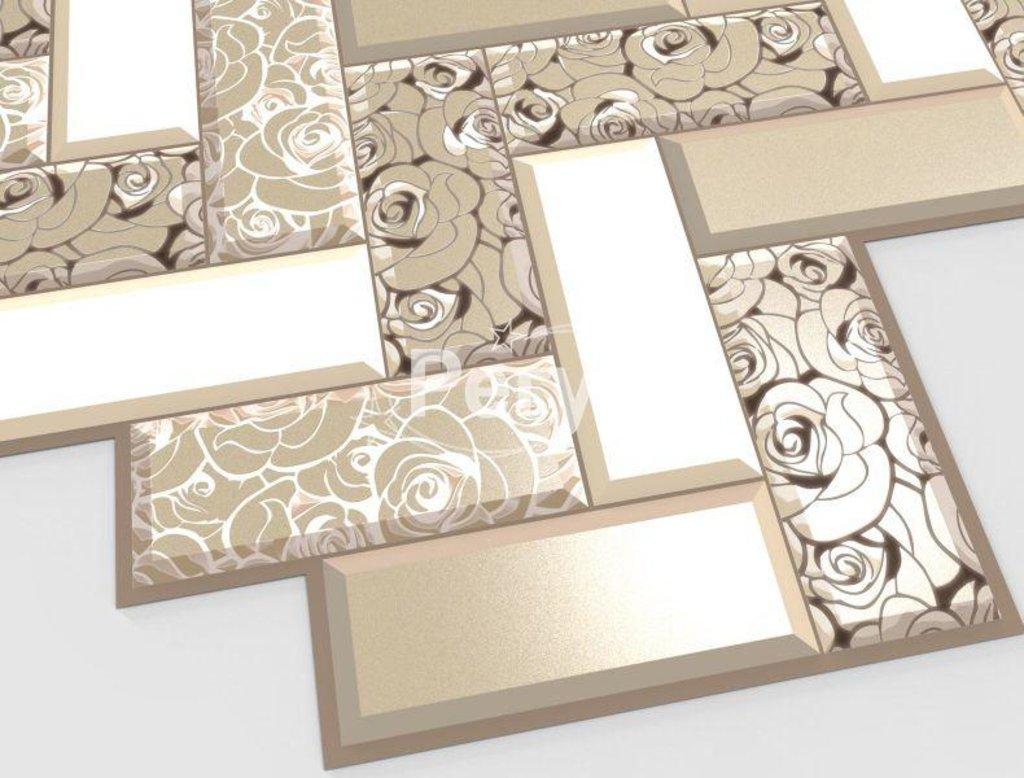 Панели ПВХ: Плитка Роза в золоте в Мир Потолков