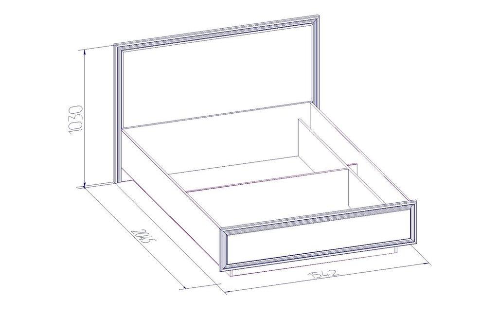 Кровати: Кровать Люкс PAOLA 308 патина (1400, мех. подъема) в Стильная мебель