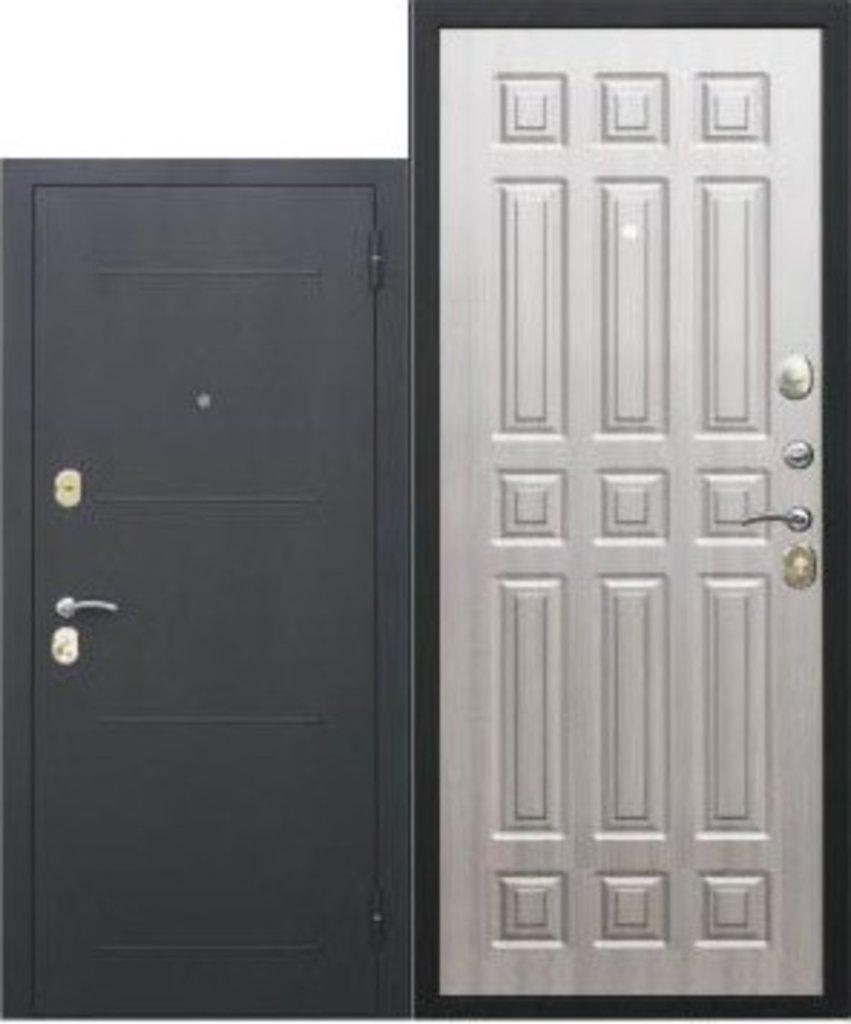 Двери завода Феррони: 7,5 cм Гарда Чёрный шёлк мдф 16 мм Белый ясень в Модуль Плюс