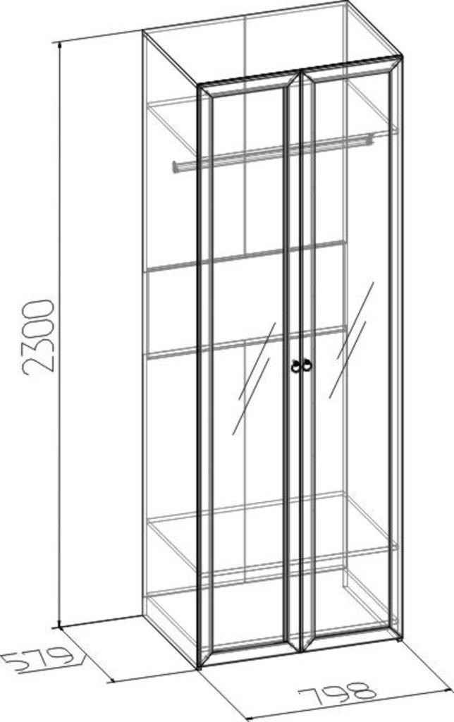 Шкафы для одежды и белья: Шкаф для одежды Марсель 54 (Зеркало+Зеркало) в Стильная мебель