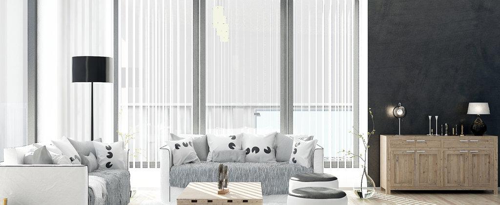 Вертикальные жалюзи: Алюминиевые вертикальные жалюзи в Салон штор, Виссон