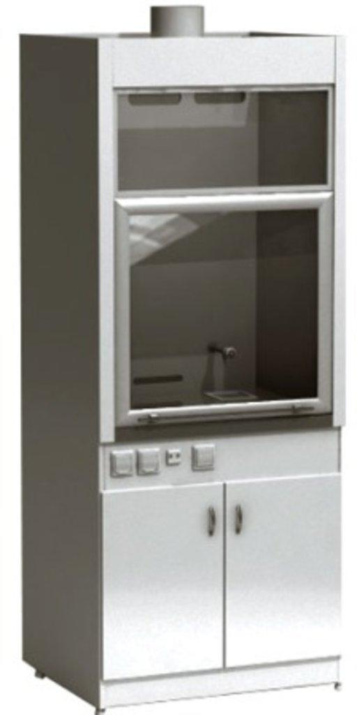 Шкафы вытяжные лабораторные: Шкаф вытяжной лабораторный ШВ-01-МСК (керамика, кран, тумба) в Техномед, ООО